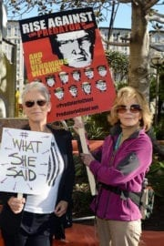 Jamie Lee Curtis and Jane Fonda at Women's March in Los Angeles