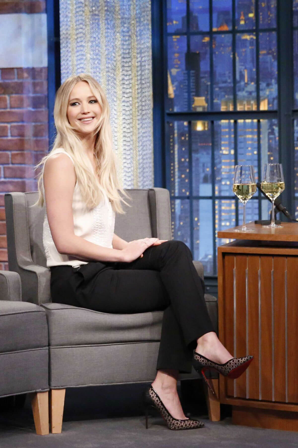 Jennifer Lawrence Stills at Late Night with Seth Meyers New Year's Eve Special
