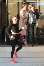 Jennifer Lopez and Leah Remini Shopping at Barneys New York Beverly Hills