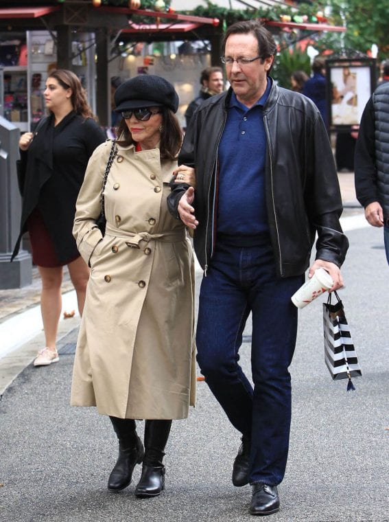 Joan Collins Out for Shopping in Los Angeles