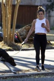 JoJo Fletcher Stills Out with Her Dog in Dallas Images