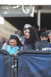 Jordin Sparks Stills at Rams Game at La Memorial Coliseum in Los Angeles