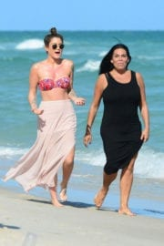 Katie Waissel and Renee Graziano Out at a Beach in Miami