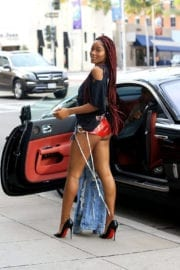 Keke Palmer in Shorts Out for Shopping in Los Angeles