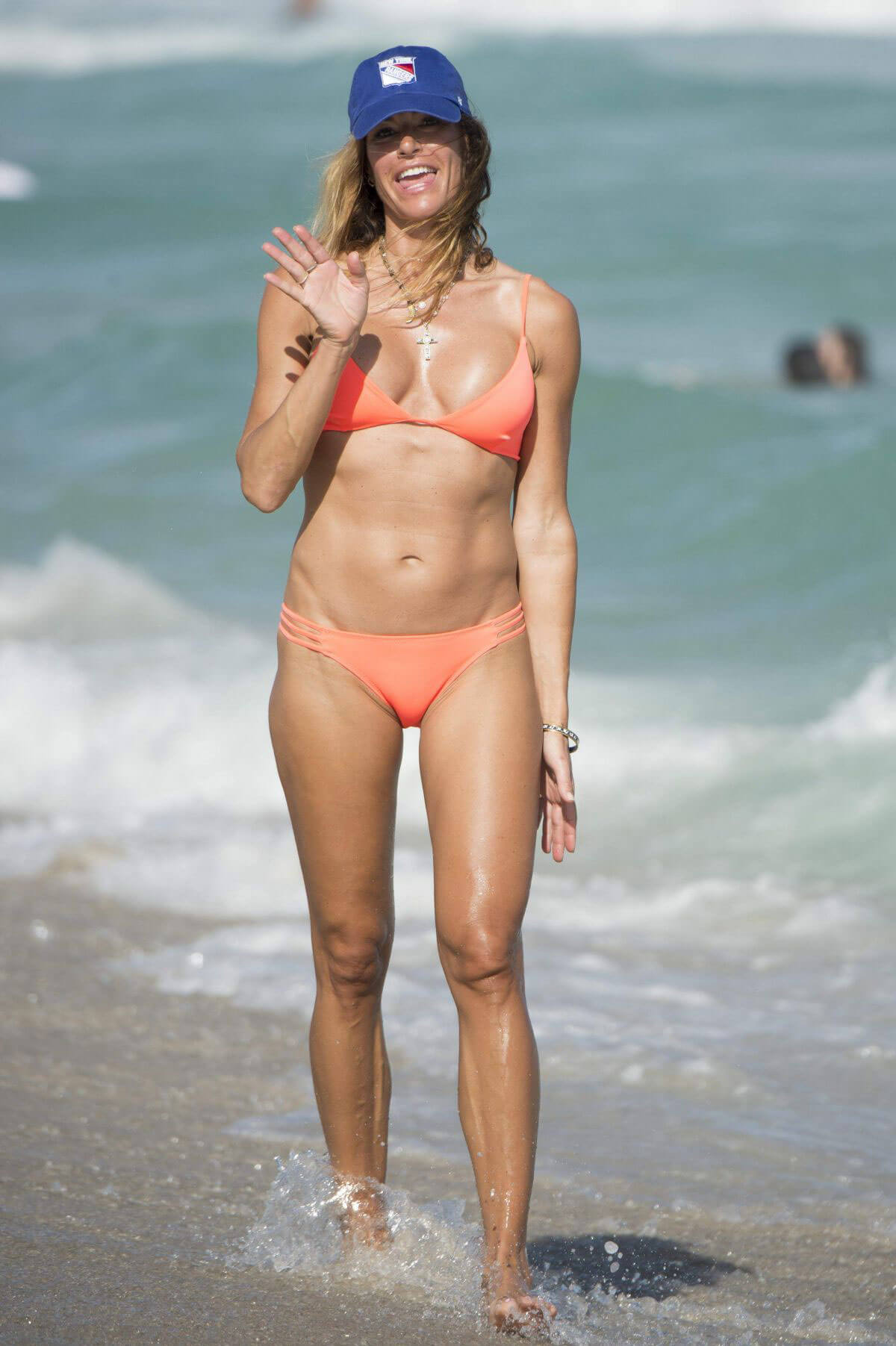 Kelly Killoren Bensimon Stills in Bikini on the Beach in Miami