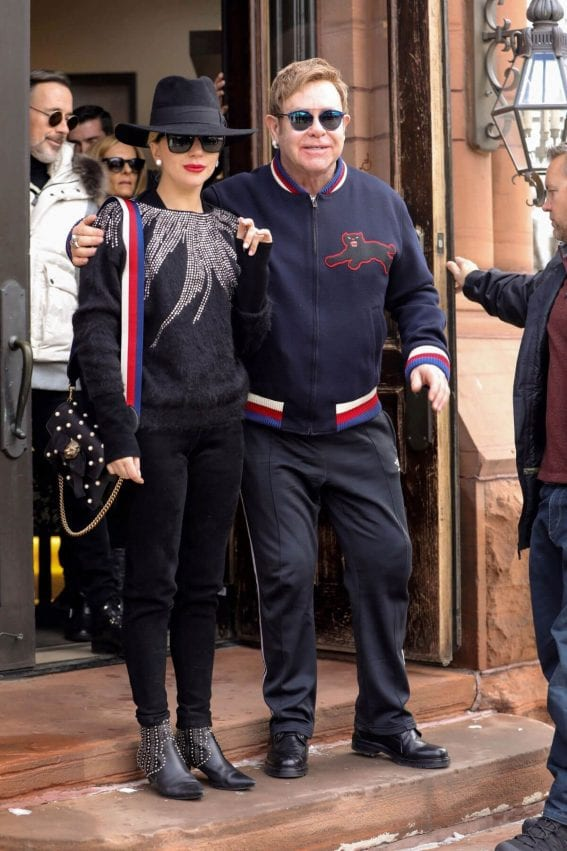 Lady Gaga and Elton John Stills Out and About in Aspen