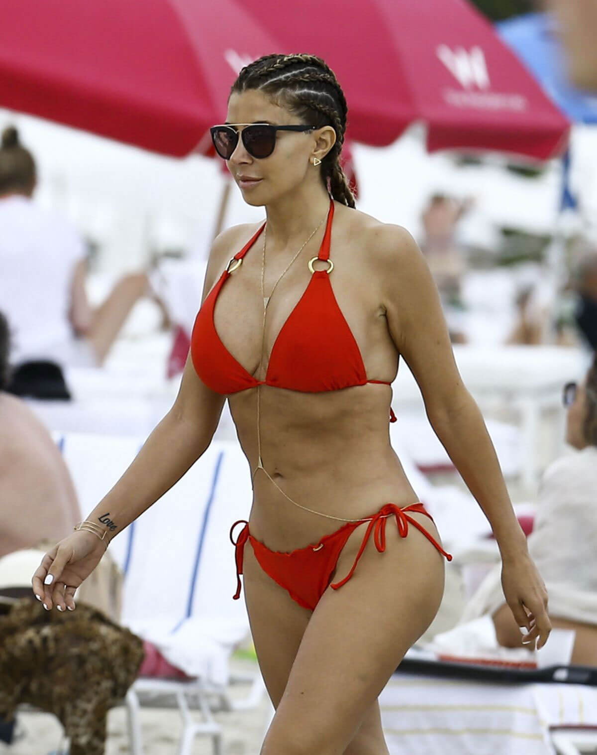 Larsa Pippen in Bikini at a Beach in Miami