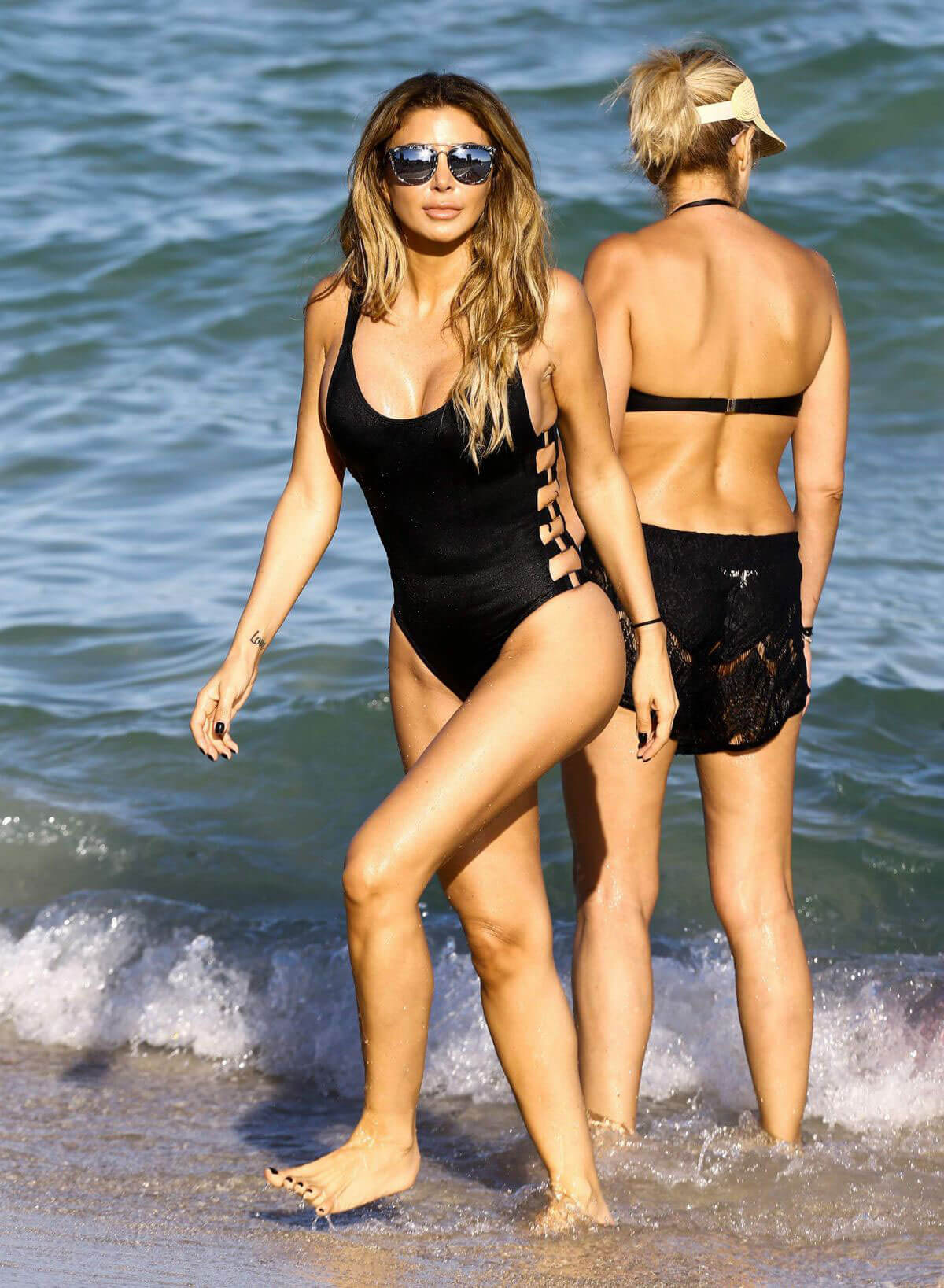 Larsa Pippen in Swimsuit on the Beach in Miami Photos