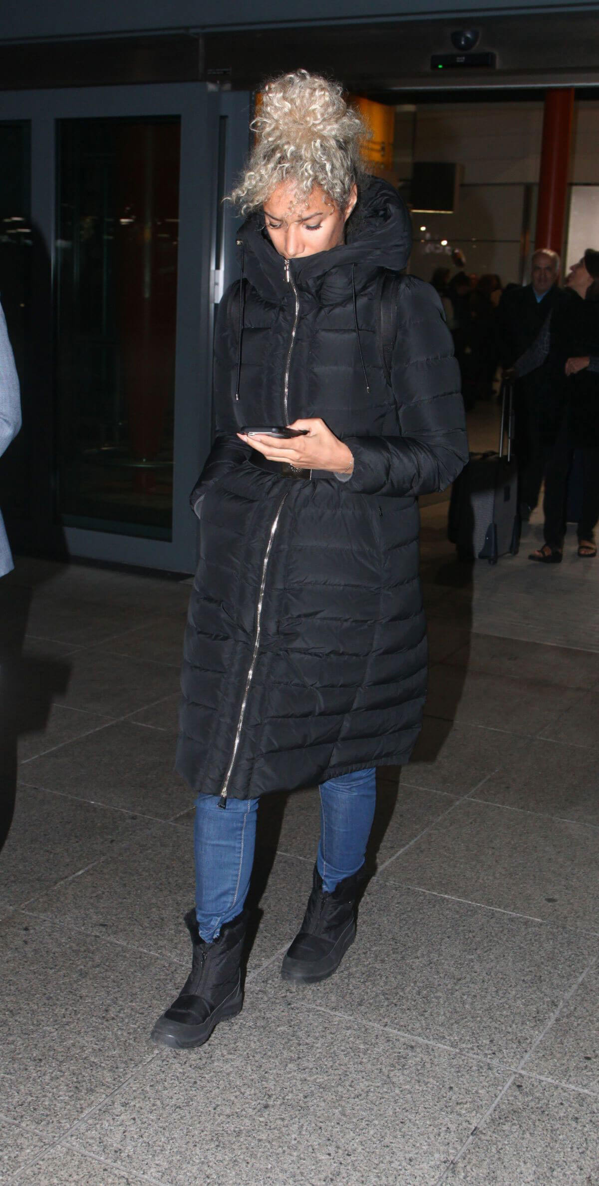 Leona Lewis at Heathrow Airport in London