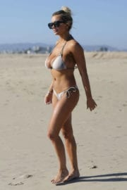 Lindsey Pelas Stills in Bikini at a Beach in Los Angeles Photos
