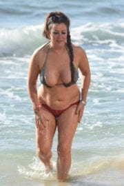 Lisa Appleton in Bikini on the Beach in Spain