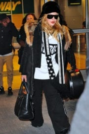 Madonna at JFK Airport in New York
