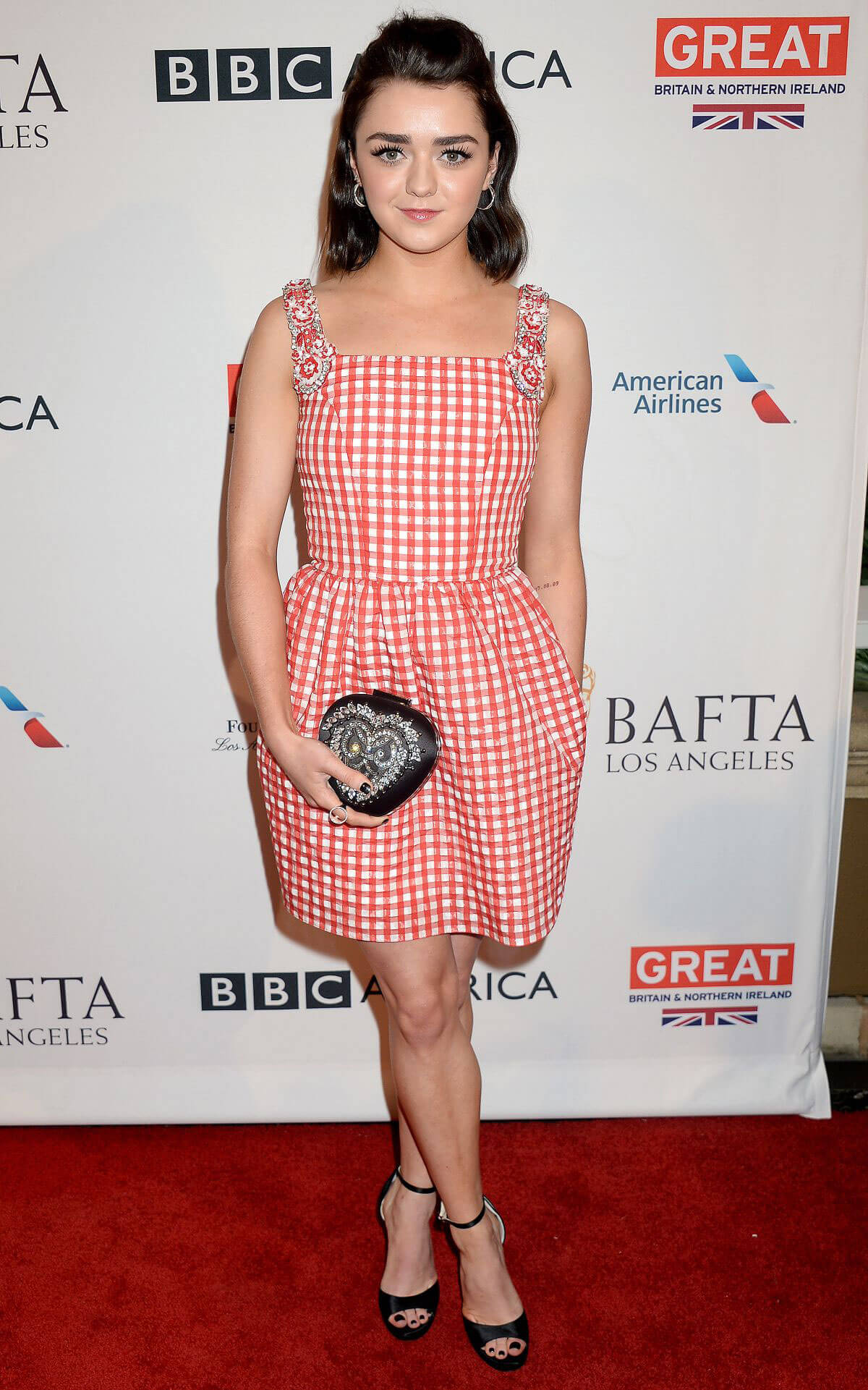 Maisie Williams at Bafta Tea Party in Los Angeles
