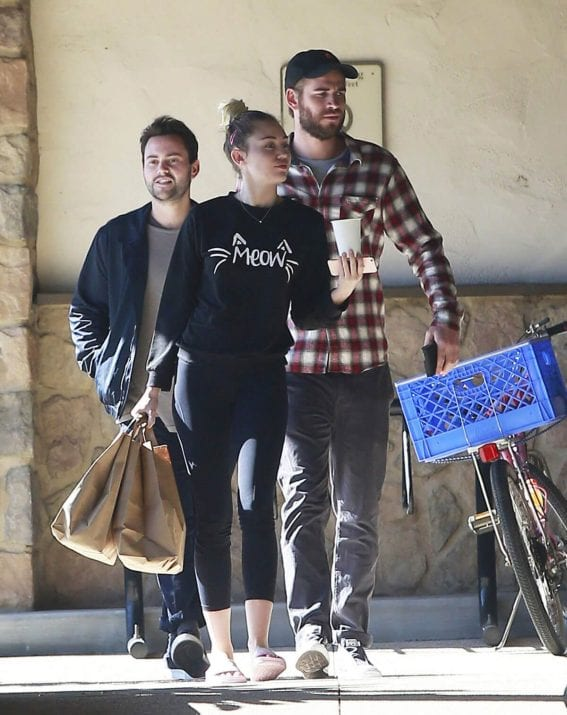 Miley Cyrus and Liam Hemsworth Out Shopping in Los Angeles