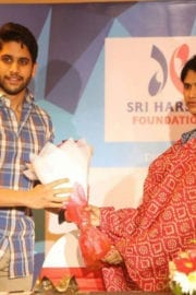 Naga Chaitanya at Sri Harsha Foundation Stop Speed Campaign