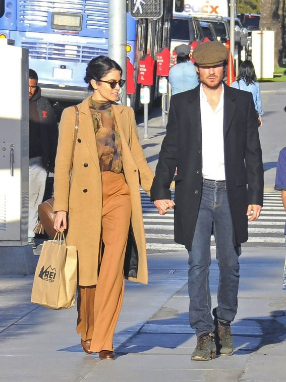 Nikki Reed and Ian Somerhalder Out for Shopping in Santa Monica Photos