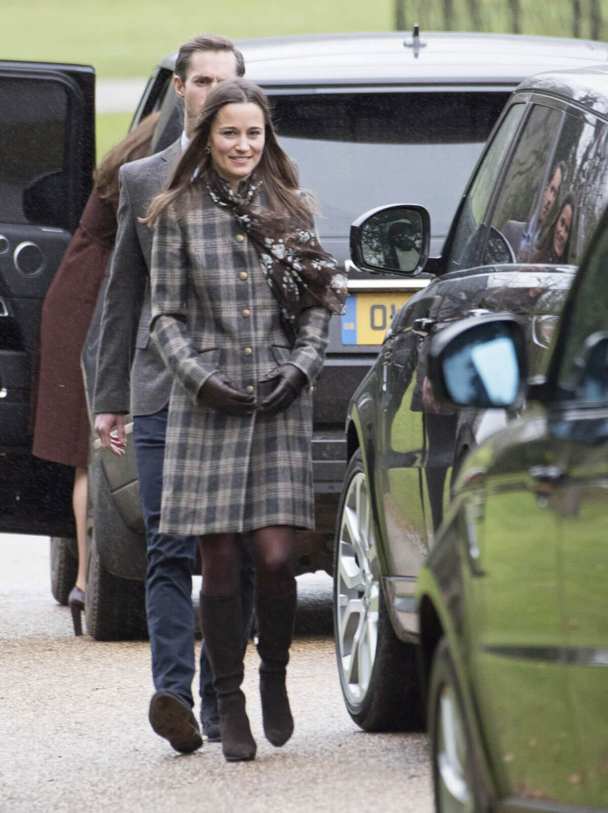 Pippa Middleton and James Mathews at Christmas Church Service Photos