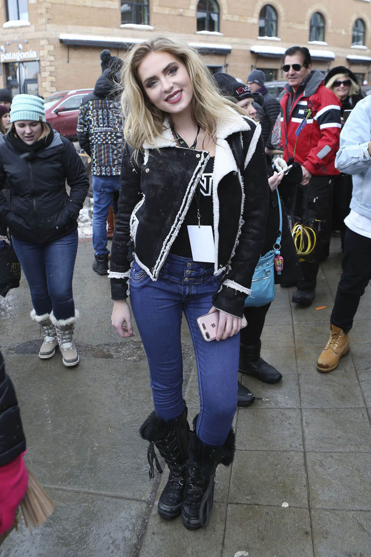 Saxon Sharbino Out in Park City