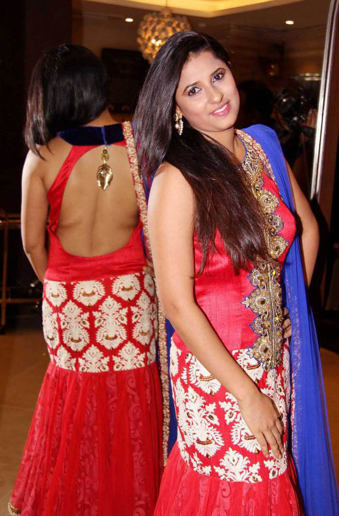 Shravya Reddy Photoshoot in Red Dress Pics