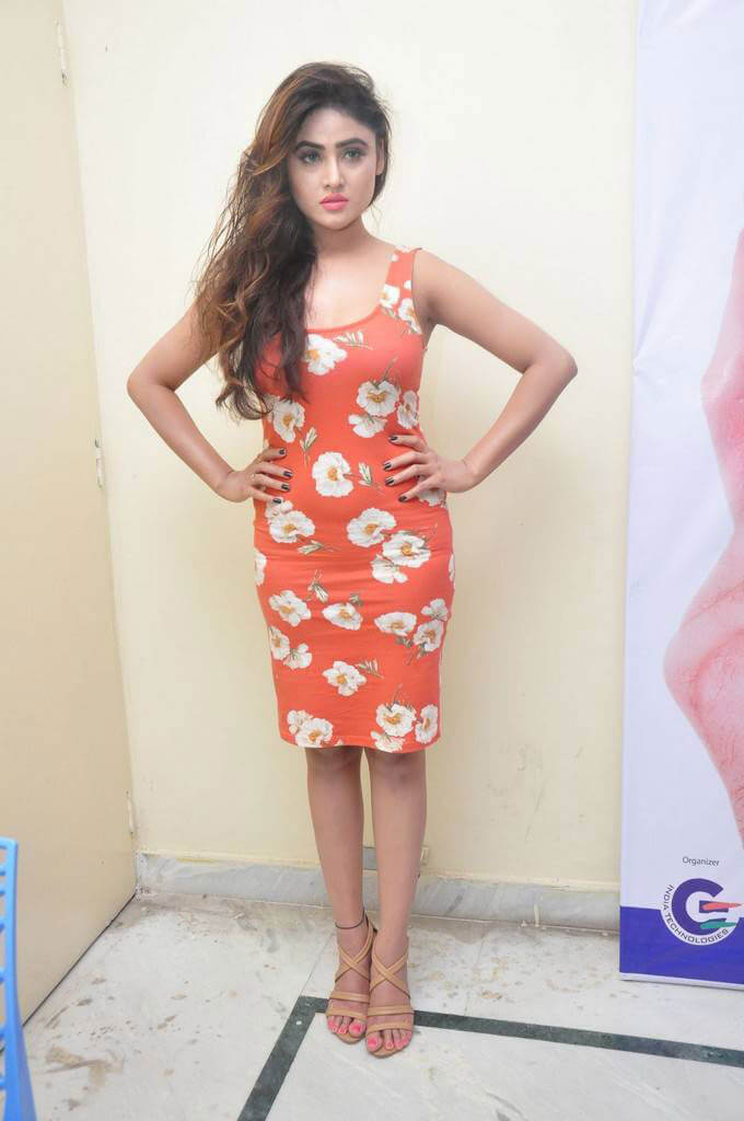 Sony Charishta Photos in Red Floral Dress