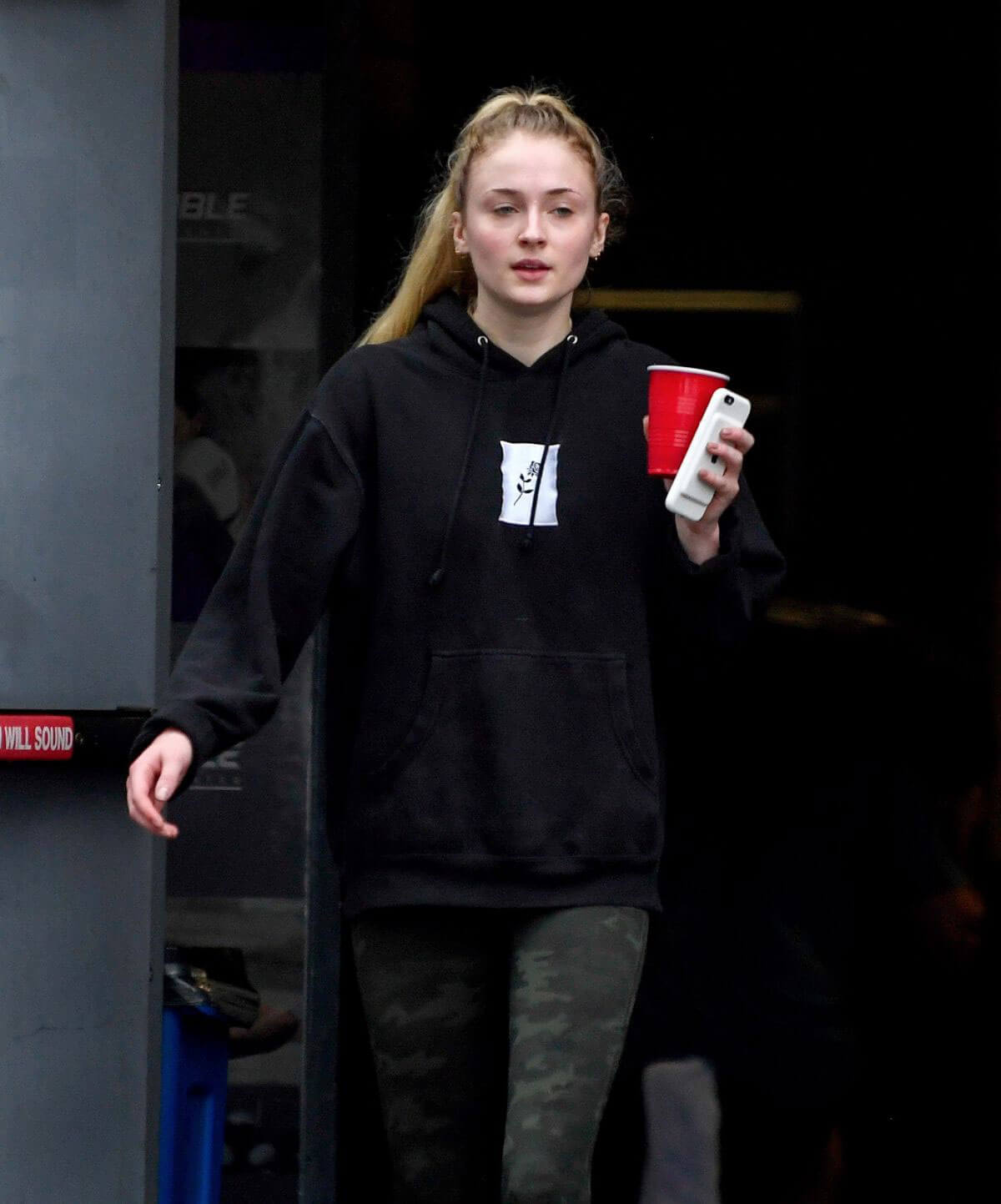 Sophie Turner at a Gym in West Hollywood