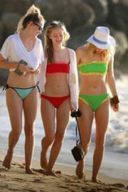 Suki, Immy & Elizabeth Waterhouse in Bikinis on the Beach in Barbados Photos