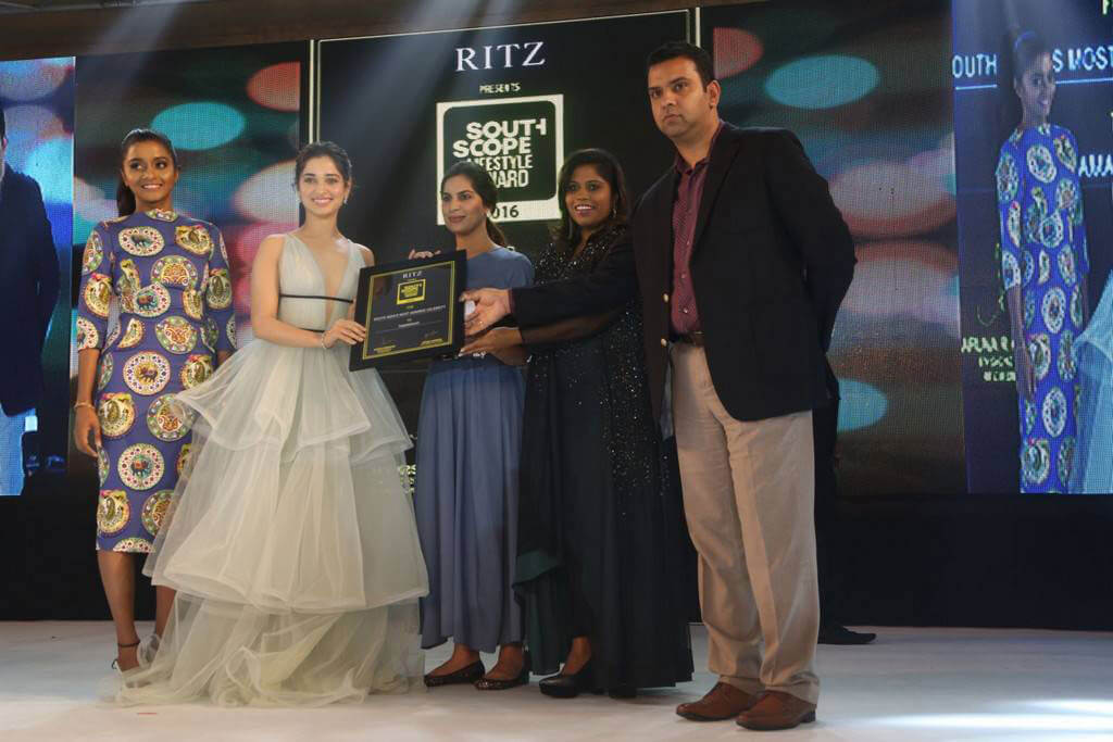 Tamanna Bhatia at Ritz Southscope Lifestyle Awards 2016