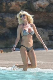 Victoria Silvstedt in Bikini at a Beach in St. Barthelemy Photos