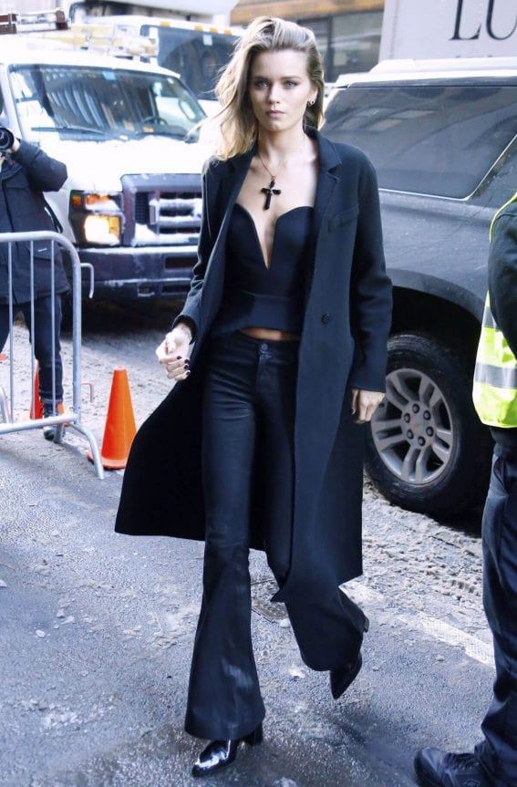 Abbey Lee Kershaw Arrives at Calvin Klein Fashion at New York Fashion Week