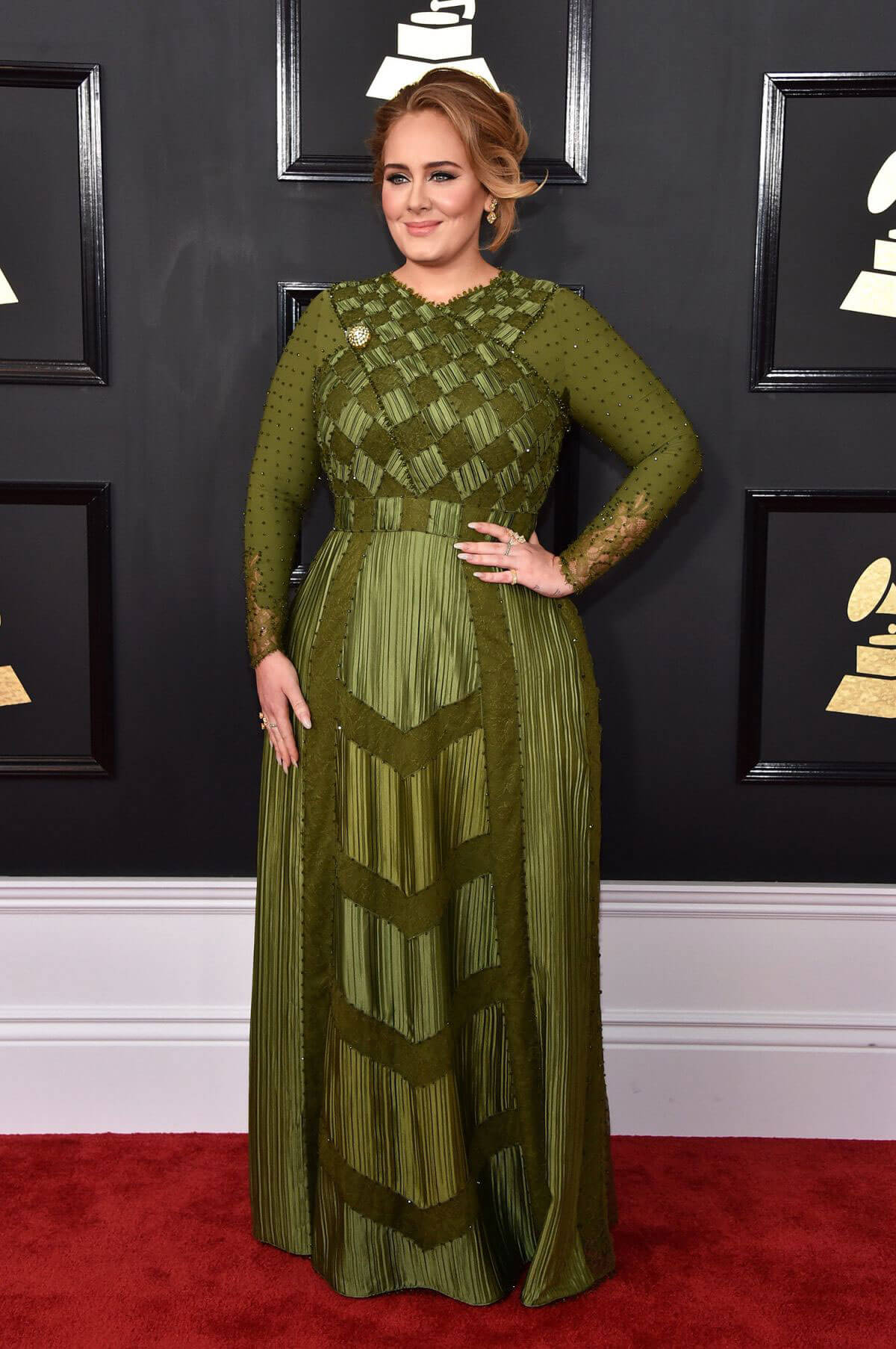 Adele at 59th Annual Grammy Awards in Los Angeles