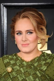 Adele at The 59th Grammy Awards in Los Angeles