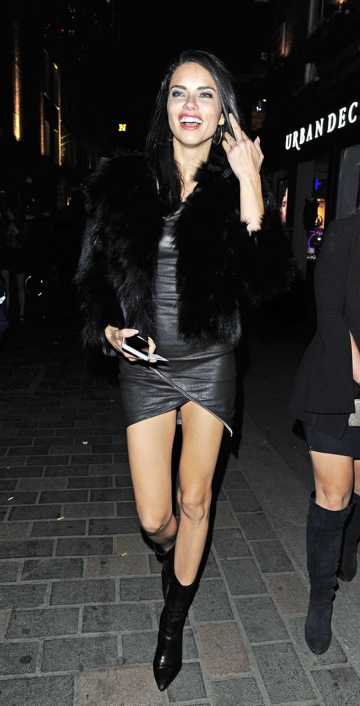 Adriana Lima Stills Night Out In London
