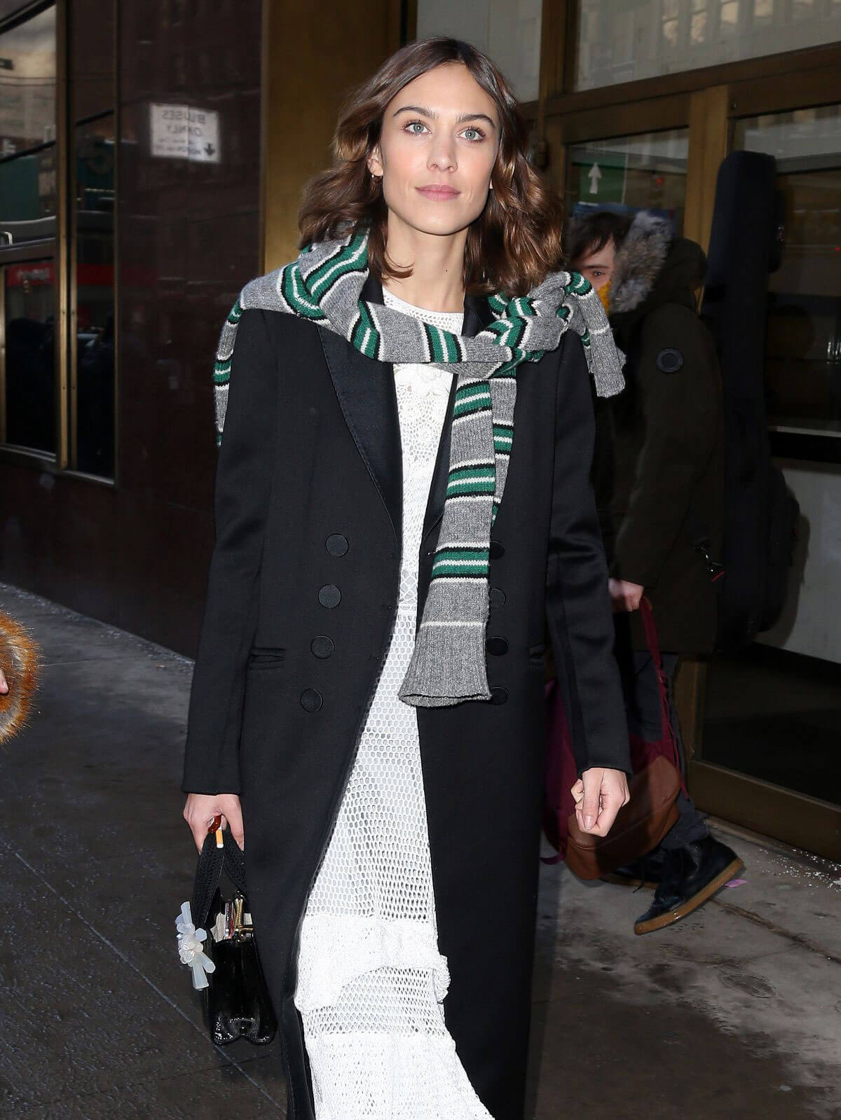 Alexa Chung Arrives at Calvin Klein Fashion Show in New York