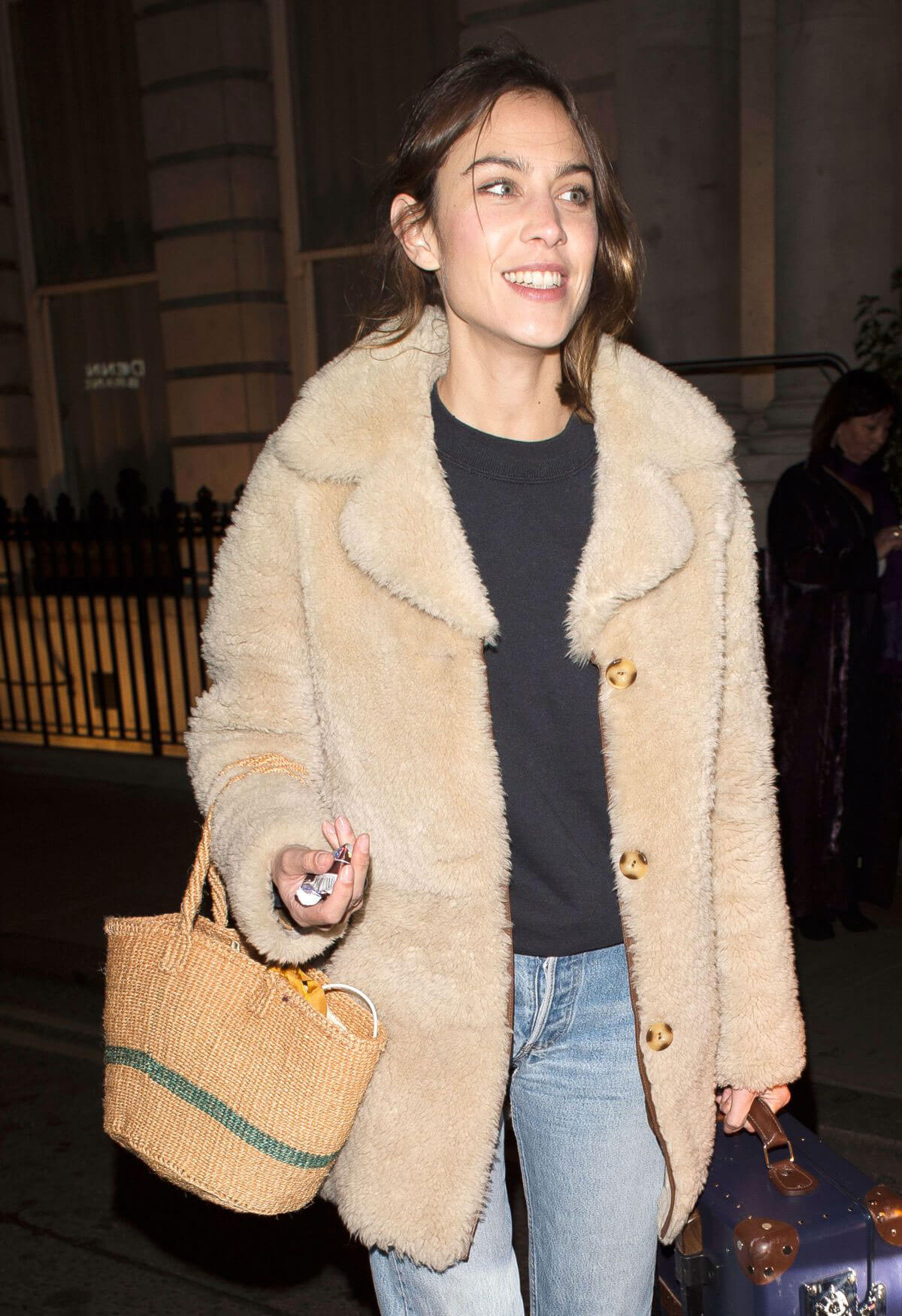 Alexa Chung Stills Leaves Her Hotel in London