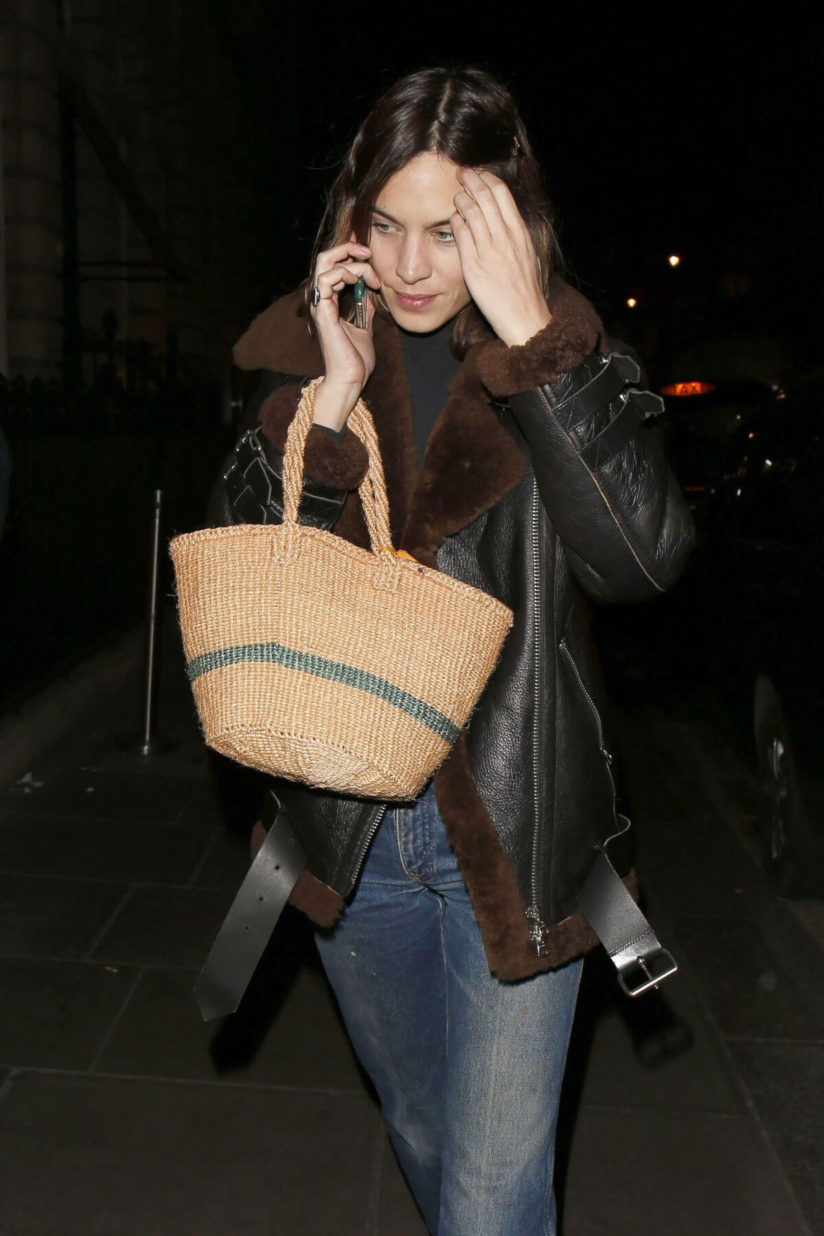 Alexa Chung Stills Night Out in London