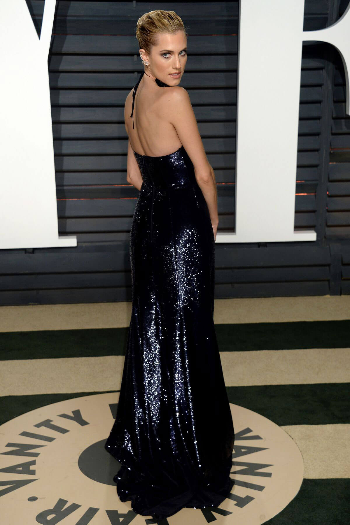 Allison Williams Stills at 2017 Vanity Fair Oscar Party in Beverly Hills