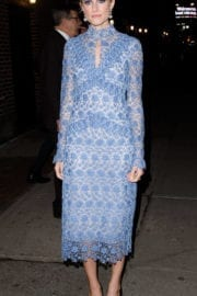 Allison Williams Stills Leaves Late Show with Stephen Colbert in New York
