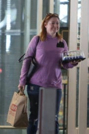 Alyson Hannigan Stills Buys a Cake Out in Los Angeles