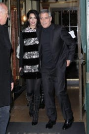 Amal Clooney and George Clooney Stills Leaves Laperouse Restaurant in Paris
