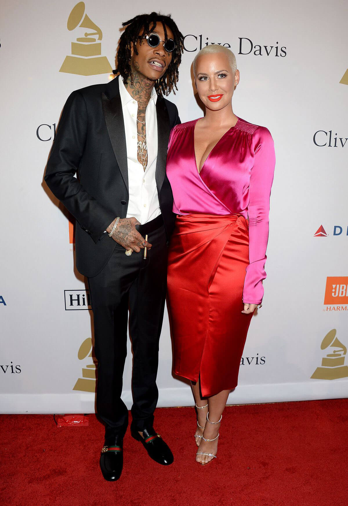 Amber Rose Stills at Clive Davis Pre-grammy Party in Los Angeles