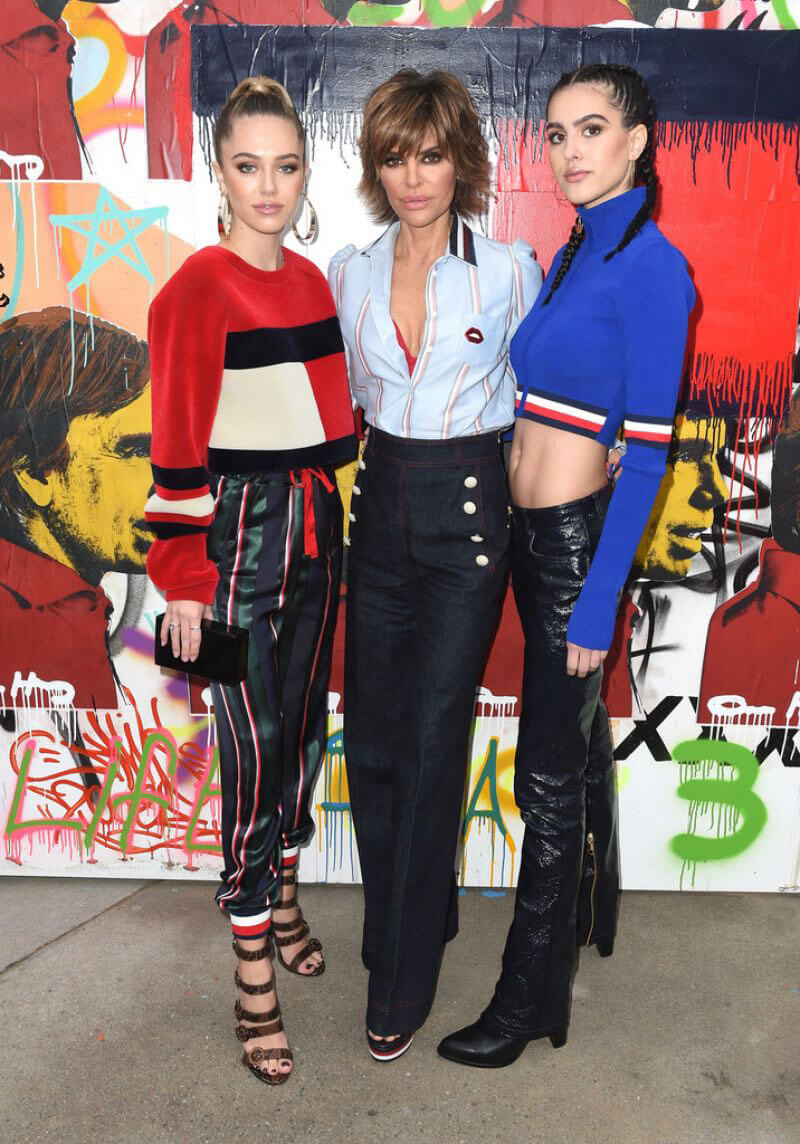 Amelia, Delilah Hamlin and Lisa Rinna at Tommyland Tommy Hilfiger Spring 2017 Fashion Show in Venice