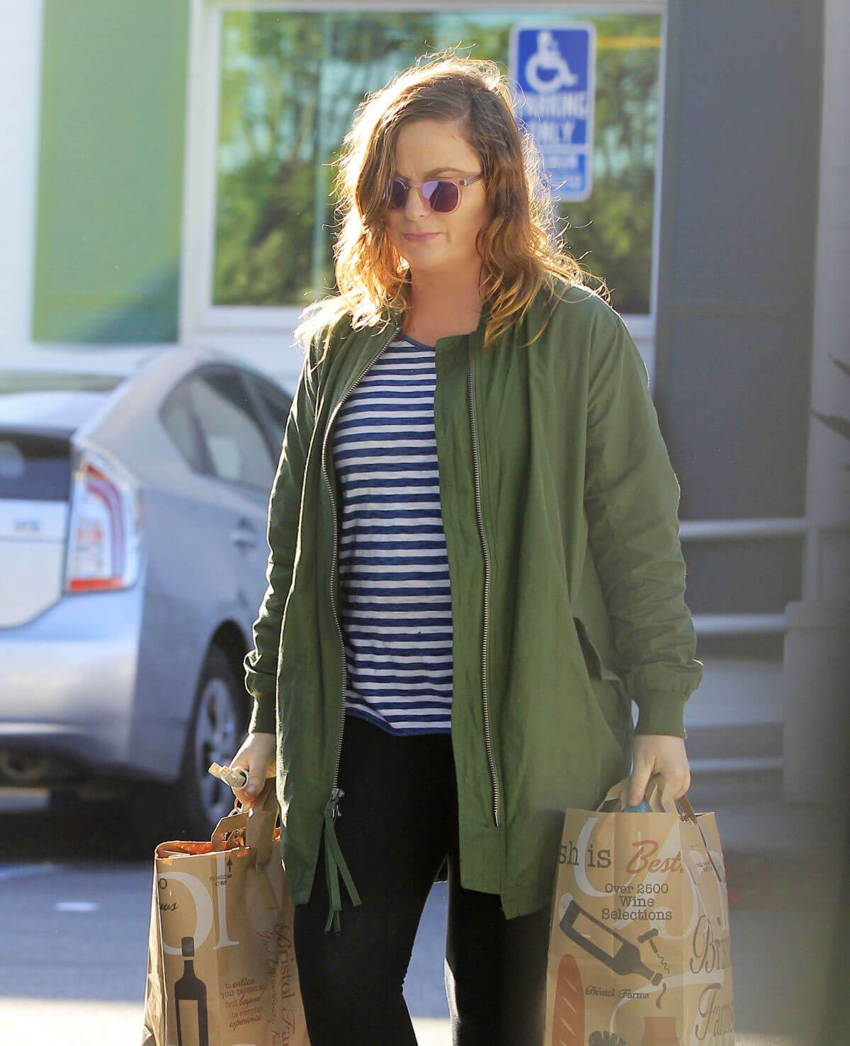 Amy Poehler Stills Shopping at Bristol Farms in Beverly Hills