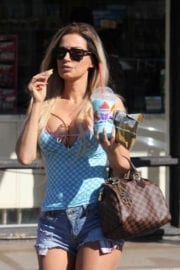 Ana Braga Stills Out and About in Studio City