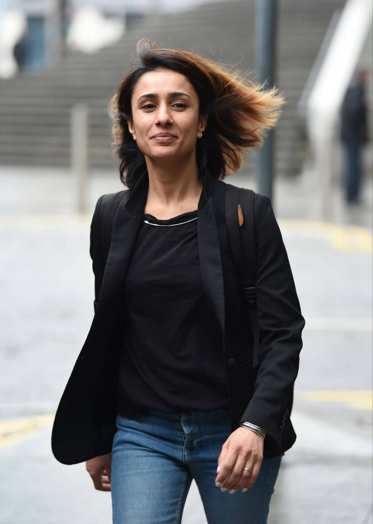 Anita Rani Leaves Her Hotel in Birmingham