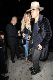Ashlee Simpson Arrives at Lady Gaga's Grammy After-party in West Hollywood