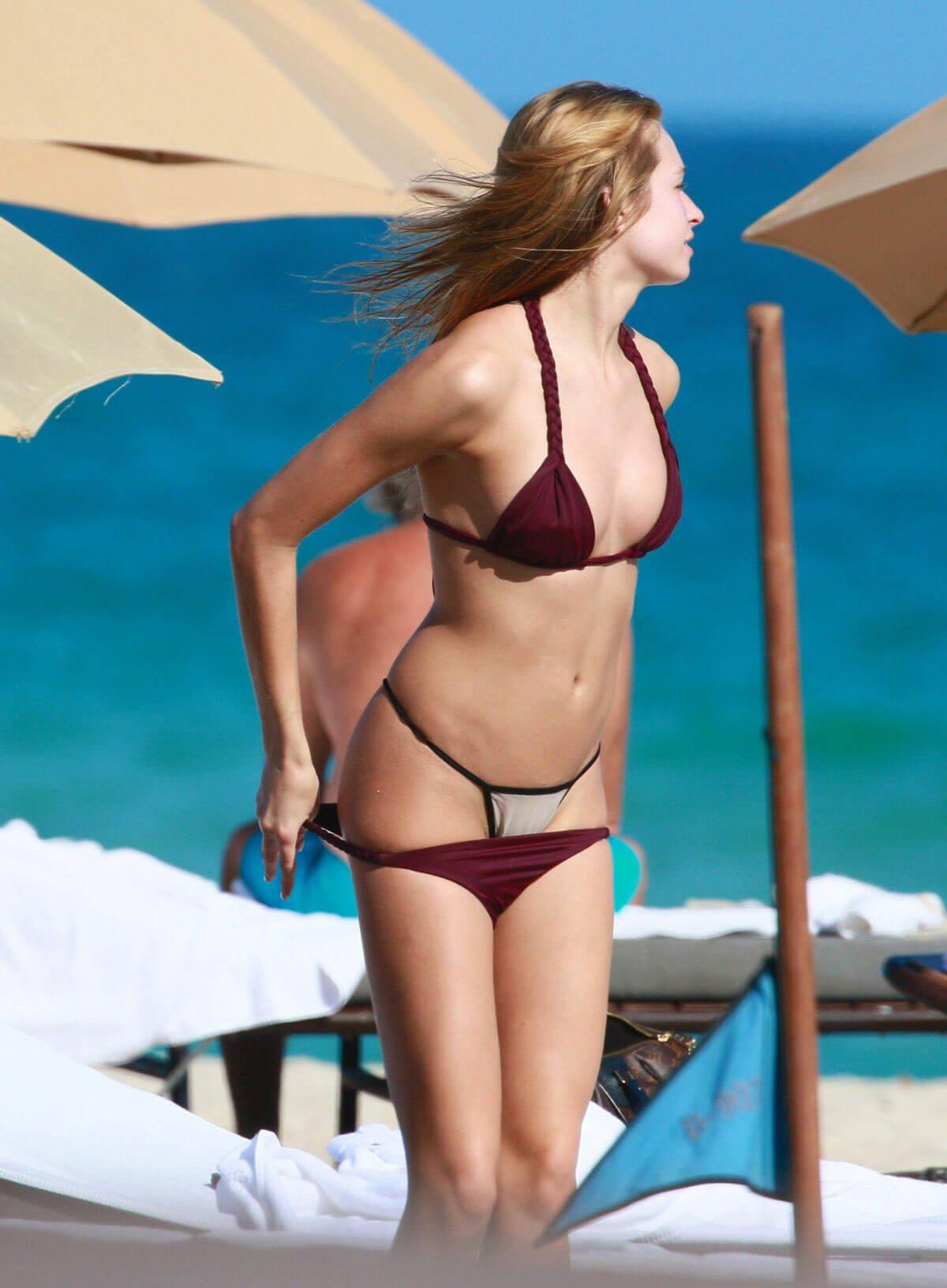 Ashlen Alexandra Stils in Bikini at a Beach in Miami