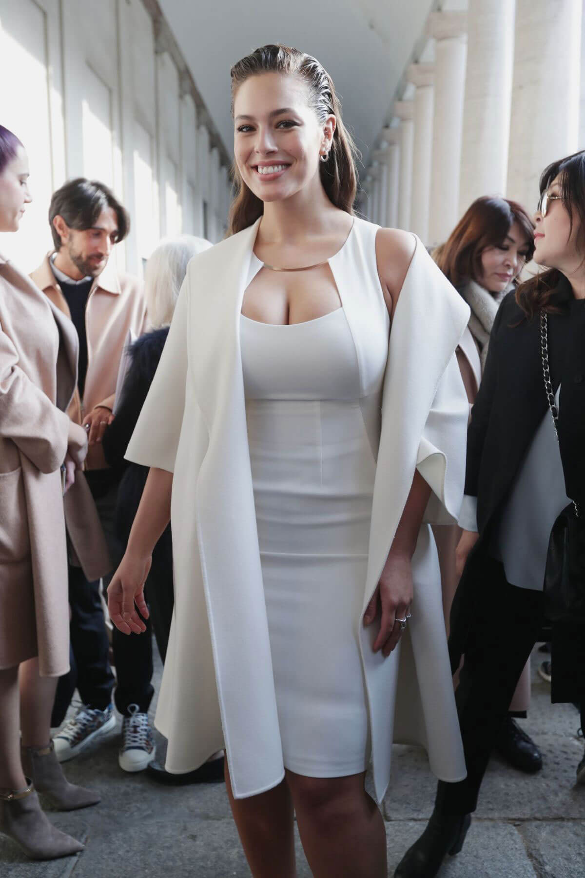 Ashley Graham Stills at Max Mara Fashion Show at Milan Fashion Week