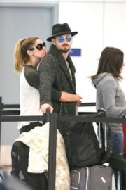 Ashley Greene and Paul Kholry Stills at LAX Airport in Los Angeles
