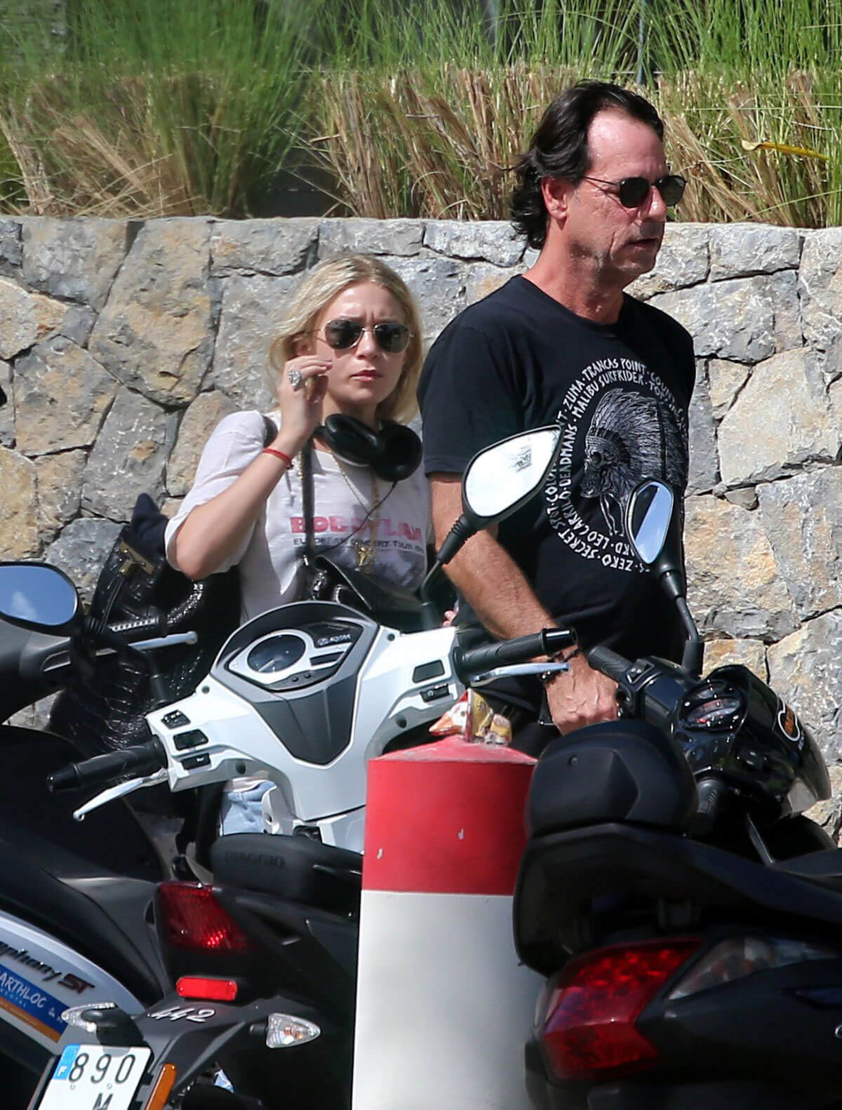 Ashley Olsen Picked by Her Boyfriend at Airport in St. Barths
