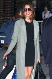 Aubrey Plaza Stills Leaves The Late Show with Stephen Colbert in New York